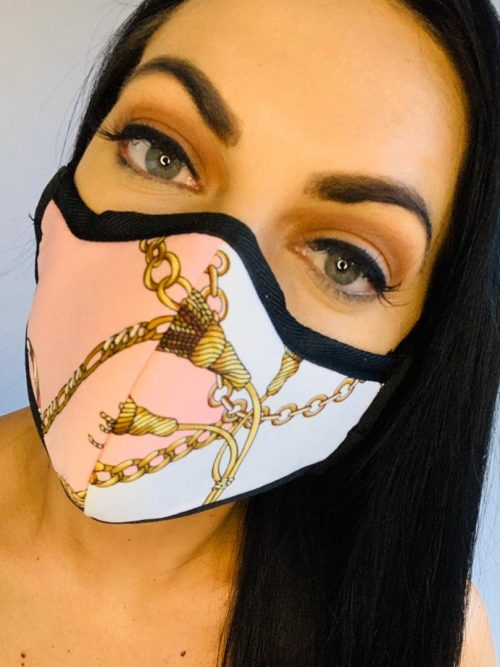 Out and About Print Masks with hand-stitched finish