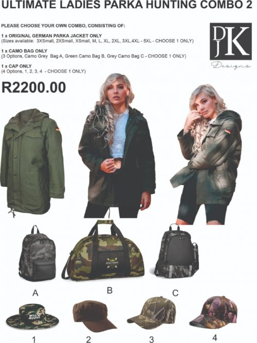 Ultimate Ladies Parka Camo Hunting Combo 2